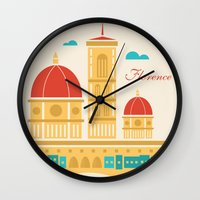 florence Wall Clocks featuring Florence by Marina Design