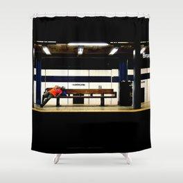 Broadway subway Shower Curtain