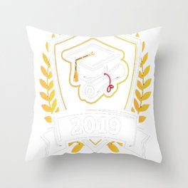 Class-of-2019---Class-of-2019-Graduation-T-Shirt Throw Pillow