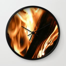 Filter Flames 2 Wall Clock