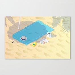 Down Time: Beach Canvas Print
