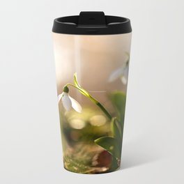 You And I Two Snowdrop Flowers #decor #society6 Travel Mug