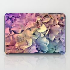 Soft Multi Color Hydrangea iPad Case