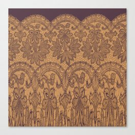 lace border stretched tonal Canvas Print