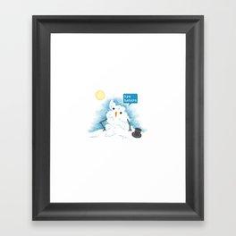 Snow Body Loves Me Framed Art Print