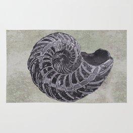 Ammonite study Rug