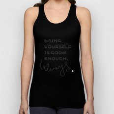 being yourself Unisex Tank Top