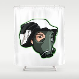 "Show your support ""Nothing Normal Here Logo"" Shower Curtain"