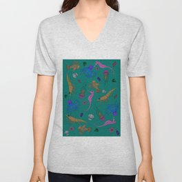 SEA CREATURES Unisex V-Neck