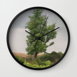 Tree by the river Wall Clock