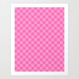 Pink Checker Board Art Print