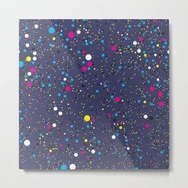 Chaotic circles pattern. Confetti #1 Metal Print