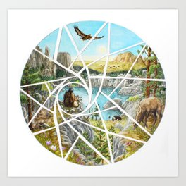 Paha Sapa Vision Quest Art Print