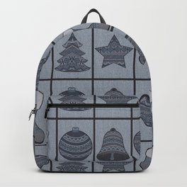 Merry Christmas! Denim photocollage Backpack