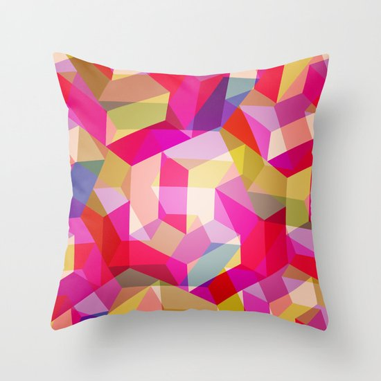 Colourful Twisted rectangles Throw Pillow