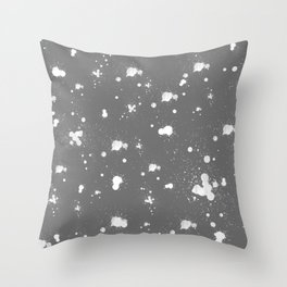 Splatter Pillow Throw Pillow