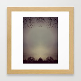 Look for peace in the sky Framed Art Print