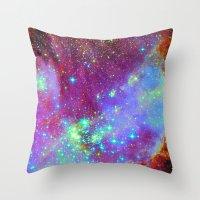 nursery Throw Pillows featuring Stellar Nursery by Starstuff