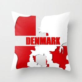 Denmark map Throw Pillow
