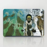 mythology iPad Cases featuring Inuit Mythology: Chapter 1, part 7 by Estúdio Marte