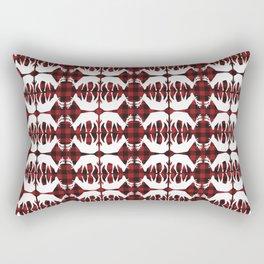 Oh, deer! in lumberjack plaid Rectangular Pillow