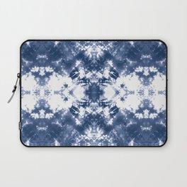 Shibori Tie Dye 4 Indigo Blue Laptop Sleeve