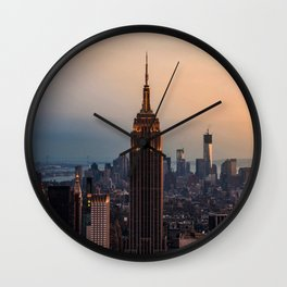 New York Window View (Empire State Building) Wall Clock