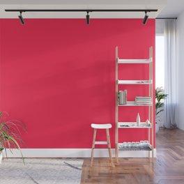 Dancing Color Mandala ~ Neon Red Wall Mural