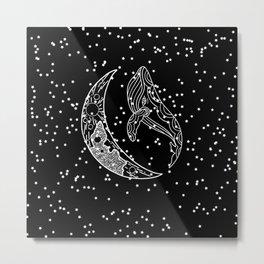 black whale Metal Print