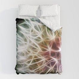 Fractal dandelion Duvet Cover