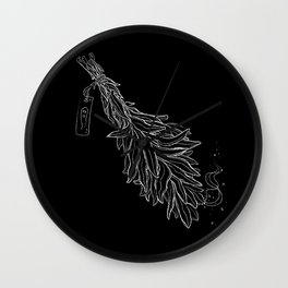Burn sage, not our sisters Wall Clock
