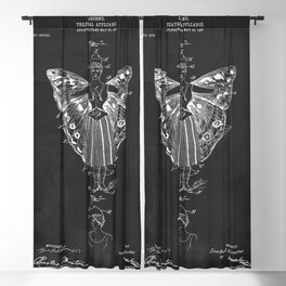 Vintage Theatrical Butterfly Wings Blackout Curtain