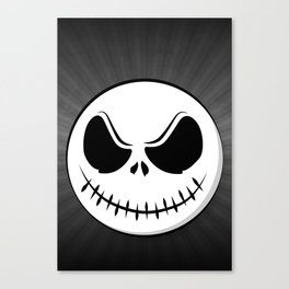 Skull - Scarry Smile (on black) Canvas Print