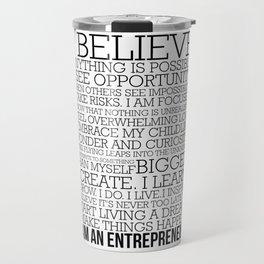 Entrepreneur Manifesto Travel Mug