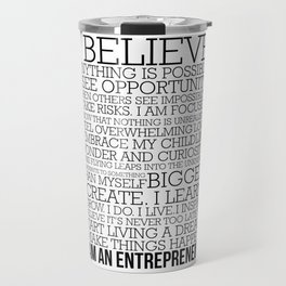 Entrepreneur Manifesto Travel Mug
