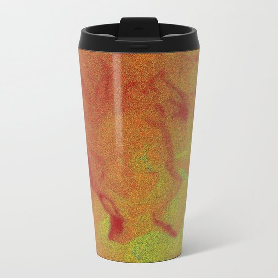 Flower | Flowers | Fading Flower | Red Abstract Metal Travel Mug