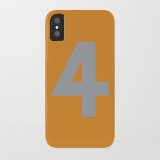 Number 4 iPhone Case
