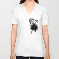 mushrooms V-neck T-shirts featuring Mushrooms by Nicklas Gustafsson