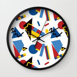 Postmodern Primary Color Party Decorations Wall Clock