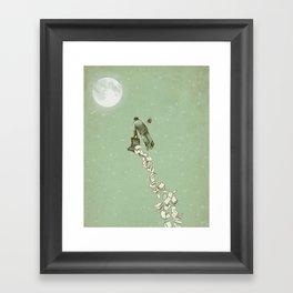 Solitary Flight Framed Art Print