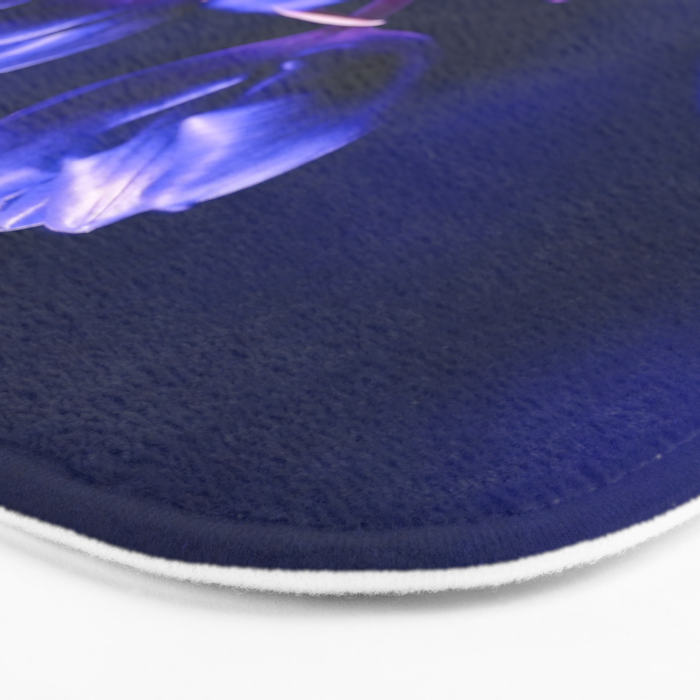 Blue Poetry of Tulips Bath Mat