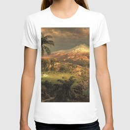 Passing Shower in the Tropics by Frederic Edwin Church T-shirt