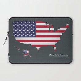 Modern Map - United States of America USA Laptop Sleeve