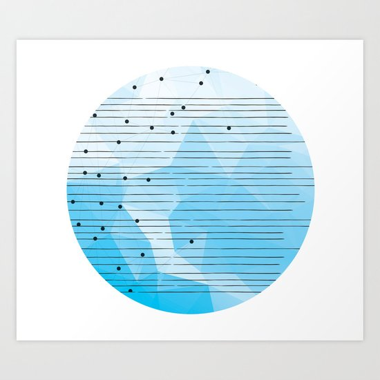 No signal from Planet Earth Art Print