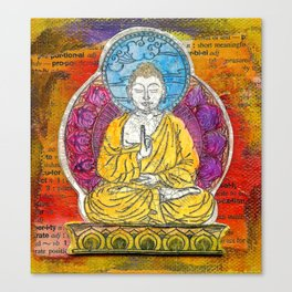 Yellow Buddha Canvas Print