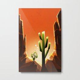 A prickly pair in love Metal Print