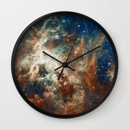 Space Nebula, Star and Space, A View of Galaxy and Outerspace Wall Clock