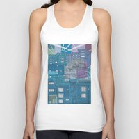 seoul Tank Tops featuring Seoul City #3 by Rob McClelland