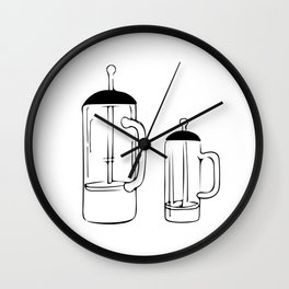 Coffee Tools: French press Wall Clock