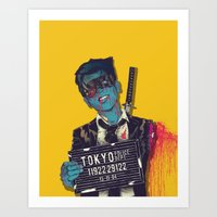 boneface Art Prints featuring Crazy 88 by boneface